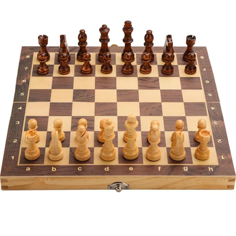 Большой магнитный деревянный складной Шахматный набор, Валовая игровая доска 39 см * 39 см, внутреннее хранилище, подарок для взрослых и детей, Семейная Игра, шахматная доска|Шахматы|   | АлиЭкспресс - Небанальные подарки
