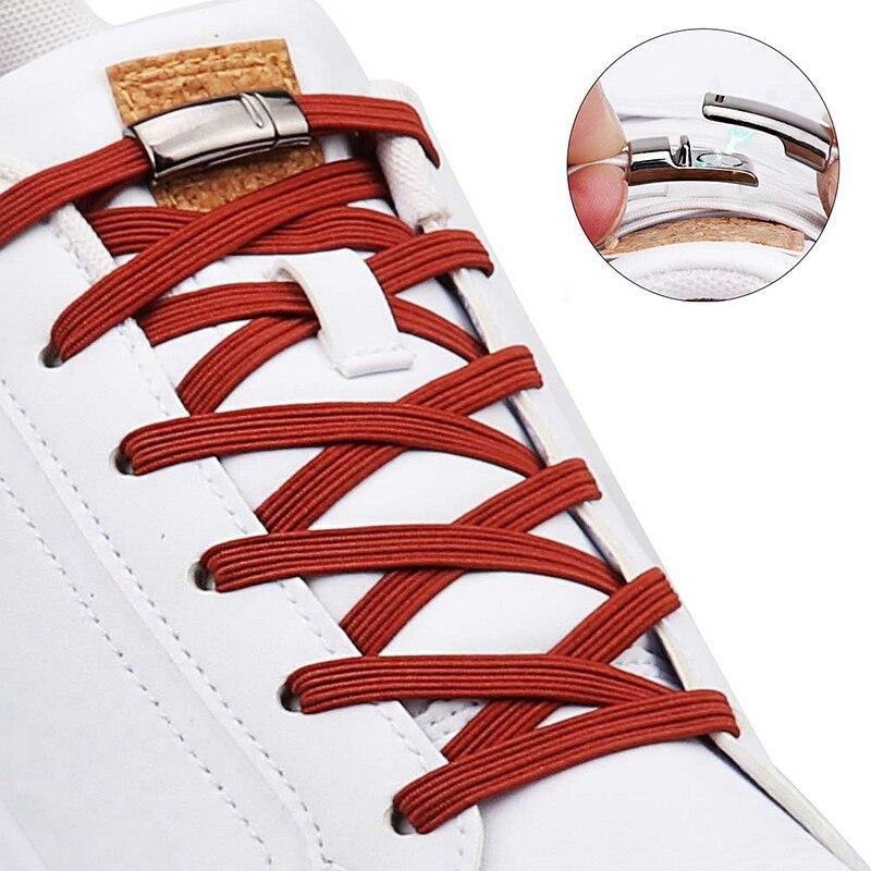 1 Pair 24 Colors Flat Magnetic Shoelaces Elastic No Tie Shoe Laces For Kids Adult Unisex Sneakers Shoelace Quick Lazy Laces