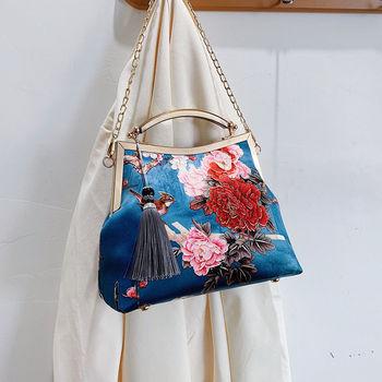 Lock Shell  Vintage Handmade Fringe Chain Shoulder Bag  6