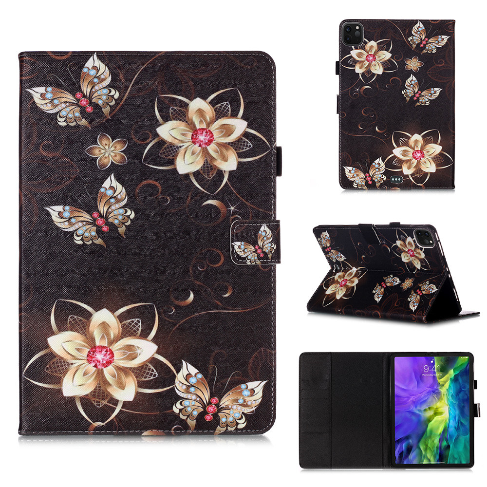 6 Purple Owl Flowers Tablet Cover For iPad Pro 11 Case 2020 Coque Wallet Stand Tablet Funda For