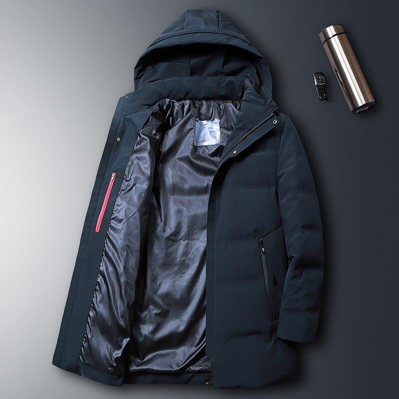 8XL 7XL canard doudoune hommes 2019 nouveau Style moyen longueur ue style élégant beau manteau épais hiver veste A916 - 5