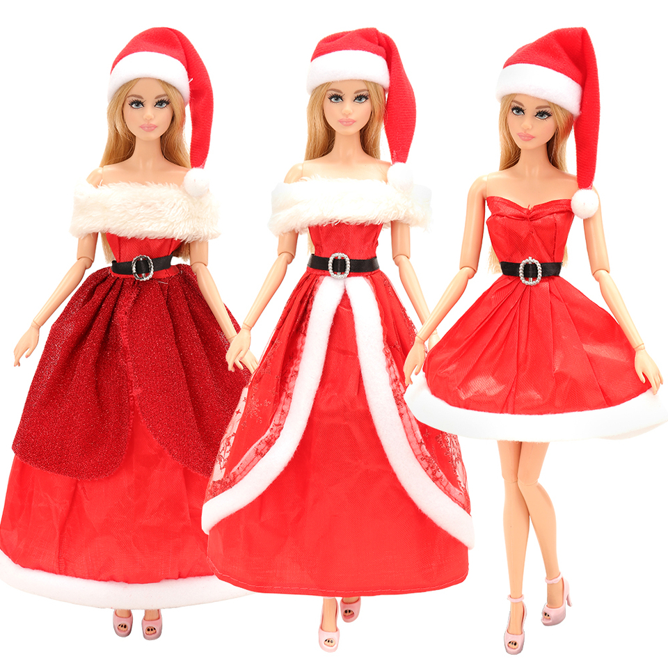 """11 1//2/""""  Doll Clothing Christmas Santa Suit for Barbie Doll"""