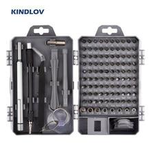 KINDLOV – jeu de tournevis de précision 115 en 1, Kit d'outils de réparation de précision, tournevis hexagonal magnétique, jeu d'embouts pour réparation téléphone PC outils manuels