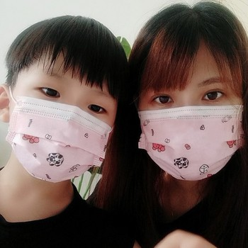 In Stock 10 pcs 3 layer Disposable Elastic Mouth Soft Breathable Soft Breathable Flu Hygiene Child Kids Face Mask Drop Fast Ship