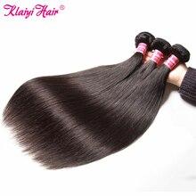 Maleisische Steil Haar Bundels Human Hair Weave 8 30 Inch Natuurlijke Kleur 3 Stuks Per Lot Remy Klaiyi Haar producten Gratis Verzending