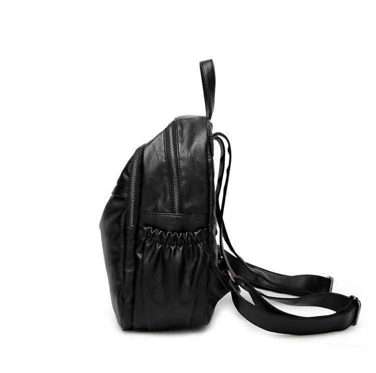 Mochilas De Couro do vintage Feminino Bolsa de Ombro Mochilas de Viagem Mulheres Mochila de Grande Capacidade Mochilas Para Meninas Dayback C1157