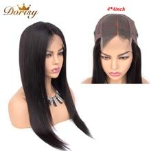 Lace Closure Wig Human Hair Wigs 4×4 Closure Wig Lace Wig Straight Human Hair For Black Women Dorisy Non Remy Hair недорого