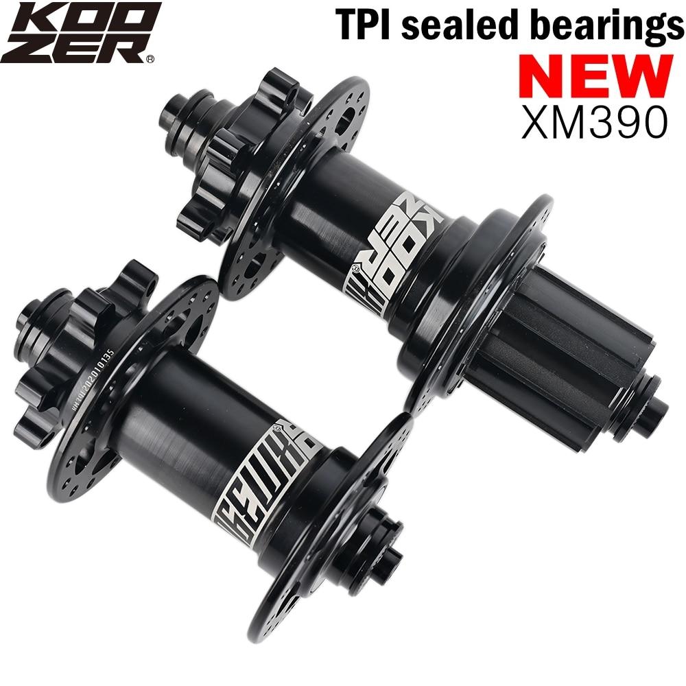 KOOZER XM390 Bike Hub QR THRU MTB Hubs TPI sealed 4 bearing Mountain Bike HG MS Hub 32 Holes For Shimano Sram 8 9 10 11 12 Speed