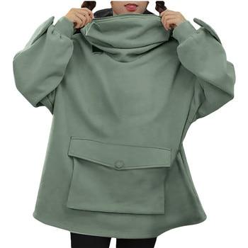 Oversized Hoodie Women Streetwear Casual Frog Printed Sweatshirt Women Winter Clothes Pullovers Tops Ropa De Mujer 2020
