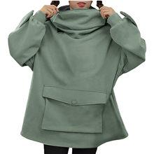 Oversized moletom com capuz feminino streetwear casual sapo impresso moletom feminino roupas de inverno pullovers topos ropa de mujer 2020