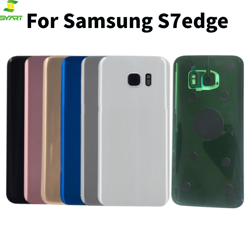 Newst For Samsung Galaxy S7 Edge G935 Back Glass Battery Cover Rear Door Glass With Tape Camera Lens image