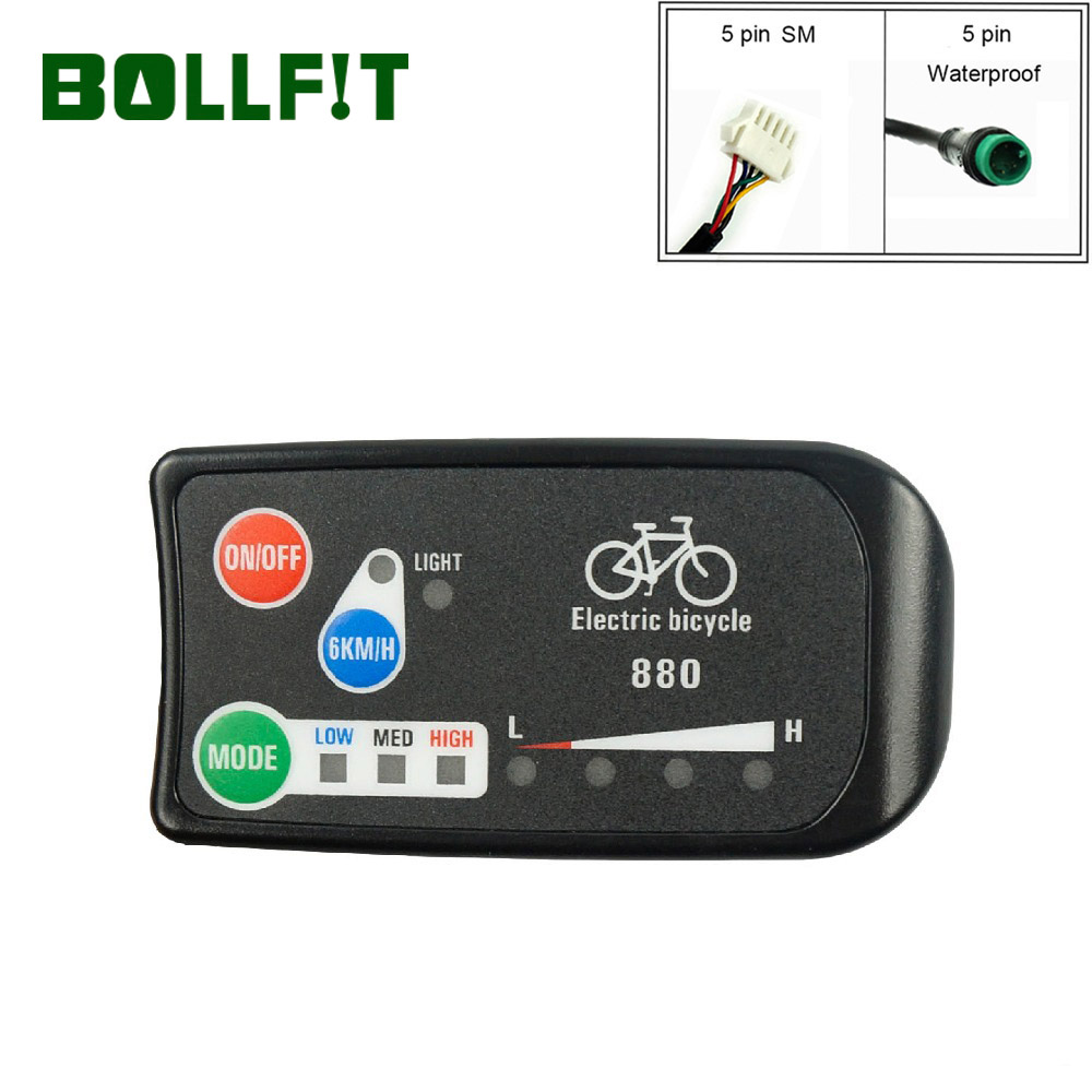 BOLLFIT E Bike Accessories KT E Bike Display LED 880 36V 48V Intelligent Control Panel Display For Electric Bicycle Kit