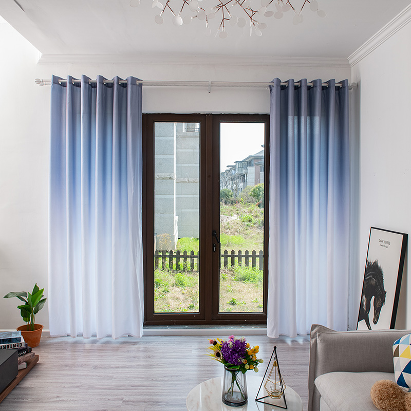 Gradient Window Treatment Blackout Curtains For Living Room Thick Curtain For Bedroom Cloth Drape Blind For Kitchen High Shading