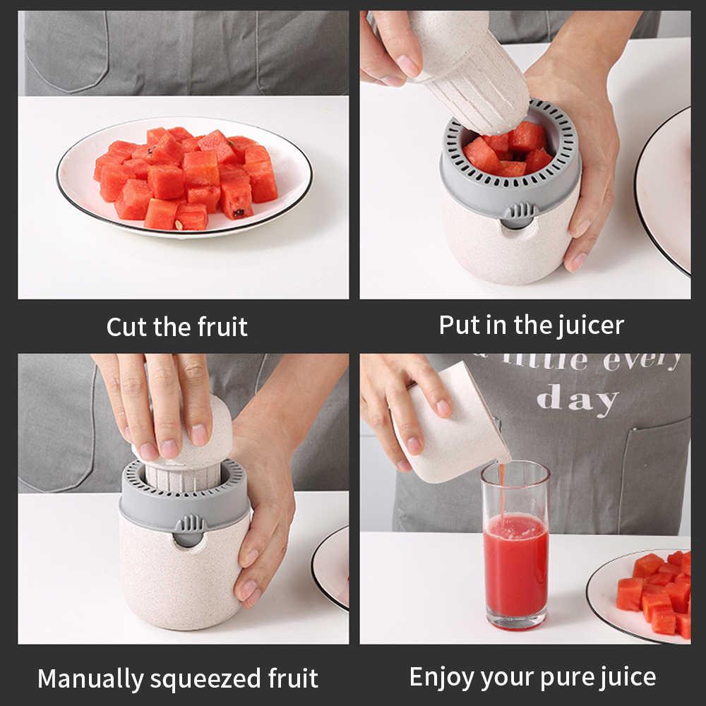NTONPOWER 400 ミリリットル柑橘類ジューサーポータブルマニュアルオレンジジューサーレモンのためのフルーツスク子健康的な生活ジューサー機