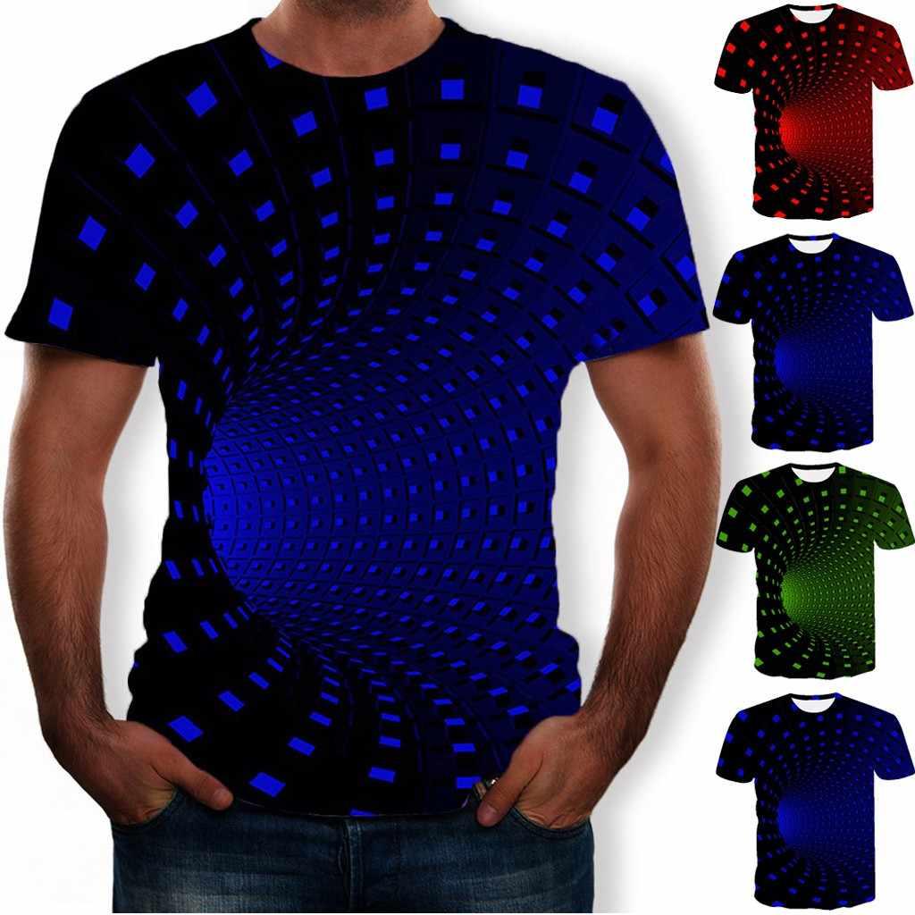 ผู้ชาย 3D Paisley พิมพ์ PLUS ขนาดเสื้อ T สั้นแขนเสื้อ O-Neck ฤดูร้อน Tops Streetwear Novelty Casual เสื้อ 3XL Camisa Masculina # D