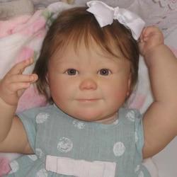 RBG Reborn Kit Reborn bébé vinyle poupée Kit 25 pouces 7 mois juin éveillé non peint inachevé poupée pièces bricolage blanc Reborn poupée Kit
