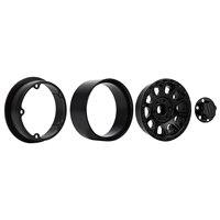 "INJORA 249g/pcs Heavy 2.2"" Beadlock Metal Wheel Rim for 1/10 RC Crawler Car Axial SCX10 90046 Wraith RR10 Traxxas TRX-6 6"