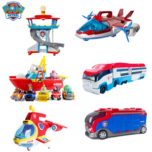 Original Paw Patrol Submarine Bus Canine Tower Rescue Aircraft Sea Patrol Ship With Dog Toy Set Children Educational Toy Gift