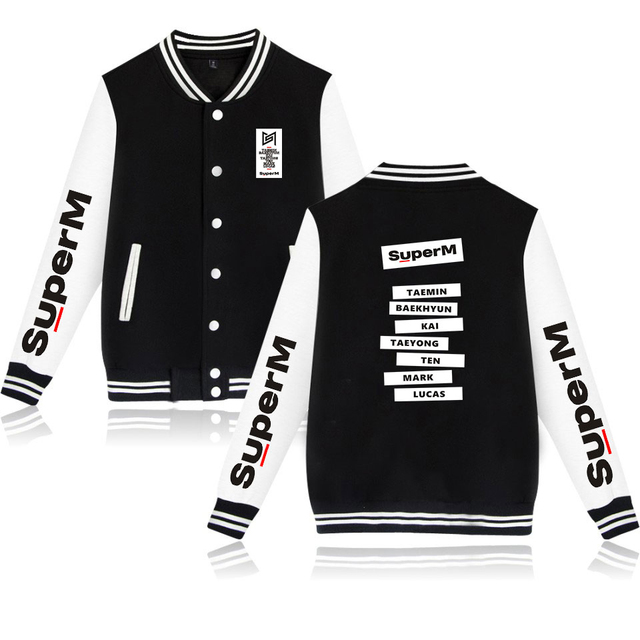 SUPER M BASEBALL JACKET (20 VARIAN)