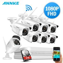 ANNKE 8CH 1080P FHD Wi-Fi Wireless NVR CCTV System 8PCS IP Camera WIFI Outdoor Waterproof Security Surveillance Kits
