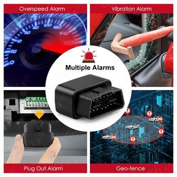 OBD GPS Tracker Car Tracker Micodus MV33 Realtime Tracking Voice Monitor Mini GPS Locator Shock&Plug-out Alarm Geofence Free APP 5