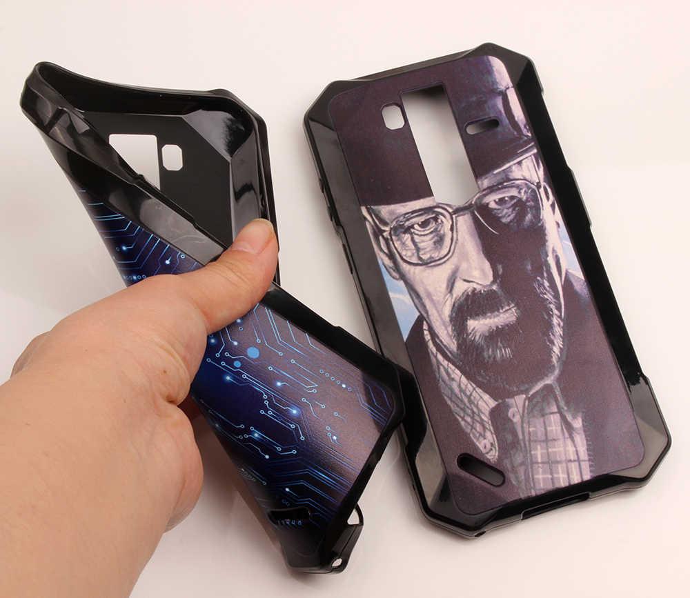 Kartun Dicetak Phone Case untuk Ulefone Baju Besi 6 6E 6S 6.2 Inci TPU Silikon Ponsel Tas Bunga Perumahan DIY Shell Customized
