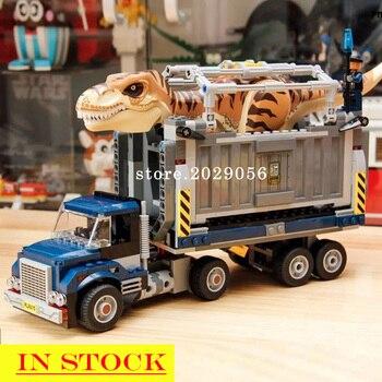 In Stock 11338 10927 10928 T. Rex Transport Dinosaur Jurassic Series World Building Blocks 75936 75933