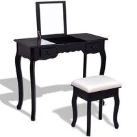 Vanity Dressing Table Set Mirrored Bedroom Bathroom Furniture With Stool Table Modern Makeup Dressers Desk HW56231
