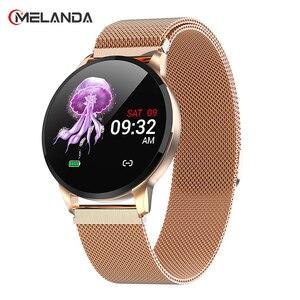 Image 1 - 2019 nouveau Fitness montre intelligente femmes en cours dexécution moniteur de fréquence cardiaque Bluetooth podomètre tactile Intelligent sport Smartwatch femmes hommes