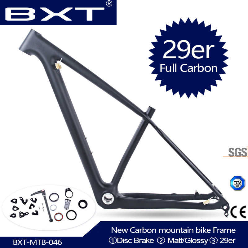 2020 New Chinese carbon mtb frame 29er bicicletas mountain bike 29er boost 148*12mm carbon frame 142*12 or 135*9mm bicycle frame