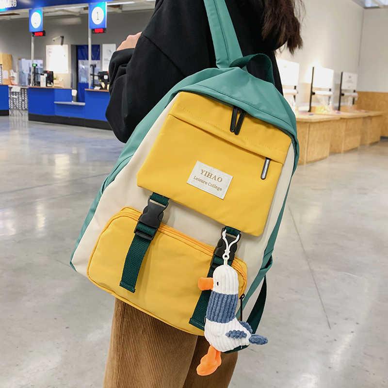 2020 nowy plecak kobiet kilka kieszeni Nylon kobiet plecak tornister dla nastoletnich torba podróżna na ramię plecaki damskie