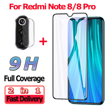 2 in 1 Screen Protector for Xiaomi Redmi Note 8 Pro Tempered Glass 8Pro Camera Lens Protective