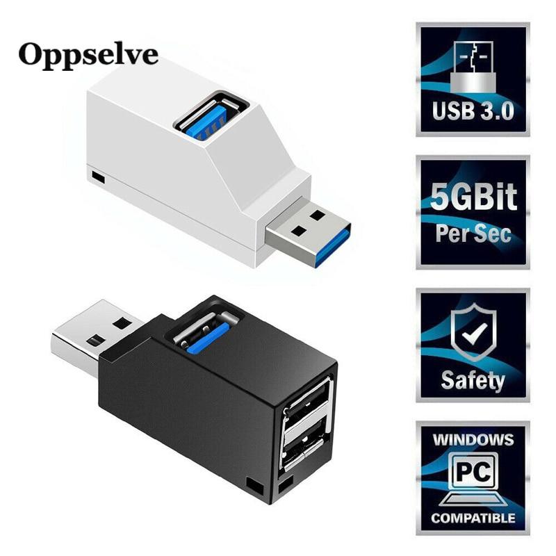 3 Port USB Mini HUB For Tablet PC Notebook Macbook Computer Multi USB Charging Hub Extender 2.0 Powered OTG Adapter HUB Splitter