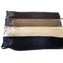 Toysww Wrap Around Ponytail Human Hair 100g Russian Virgin Hair Straight Clip In Ponytail Extensions For Women