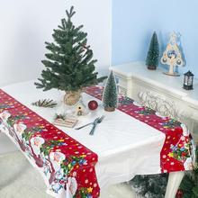 Рождественская скатерть из водонепроницаемого материала, скатерть из ПВХ 180*110 см, Рождественская скатерть, скатерть с флагом, tapete obres toalha de mesa@ 5