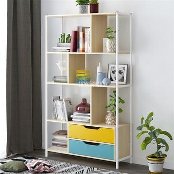 Multifunctional Saving Space Student Floor Standing Bedroom Bookcase Modern Simple Bookshelf Floor Standing Display Cabinet