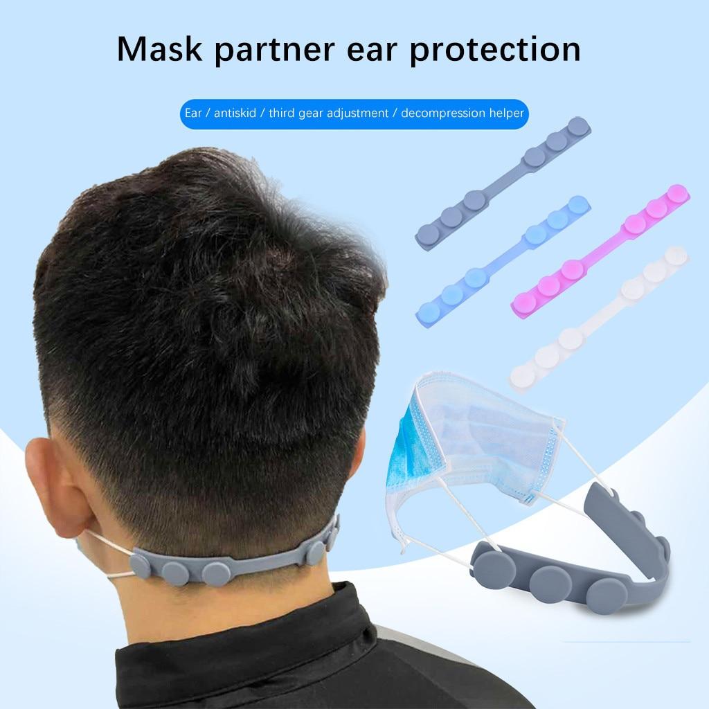 Black Ear Protector Adjustable Buckle Size Lengthened//Anti-Slip Ear Hook Face Rope Anti-Leak Ears to Relieve Ear Pain 10PC Handmade Rope Multi-Clip Tool Basde Extension Buckle Hooks