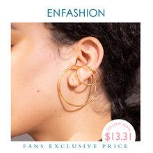 Enfashion геометрические серьги с манжетами для женщин золотой