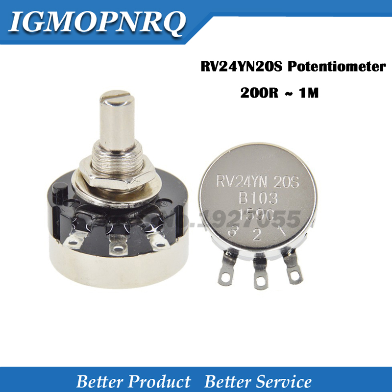 RV24YN20S потенциометр B501 B103 B202 B502 B102 B203 B503 B104 B204 B504 B105 потенциометры 500 Ом 10K 20K 50K 100K 200K ohm