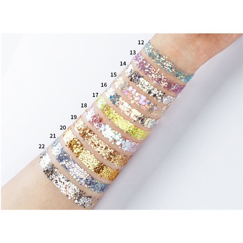 New Hot Glitter Eyeshadow Sequins Diamond Shimmer Eye Shadow Face Body Party Makeup Tools SMR88