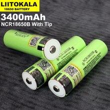 4 adet Liitokala orijinal NCR18650B 3.7V 3400mah 18650 şarj edilebilir lityum pil için uygun el feneri dizüstü (yok PCB)
