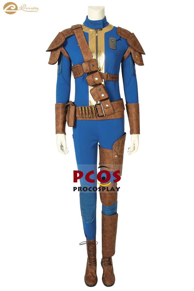 ProCosplay Game Fallout 76 female lead cosplay <font><b>Blue</b></font> leather <font><b>Sexy</b></font> <font><b>Halloween</b></font> <font><b>costume</b></font> <font><b>for</b></font> <font><b>women</b></font> mp005166 image