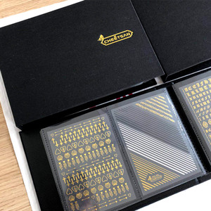 Image 3 - Hanyi Xmas Sneeuw 1 Vel HANYI 66 101 Prinses 3d Nail Art Stickers Decal Template Diy Nail Tool Decoraties