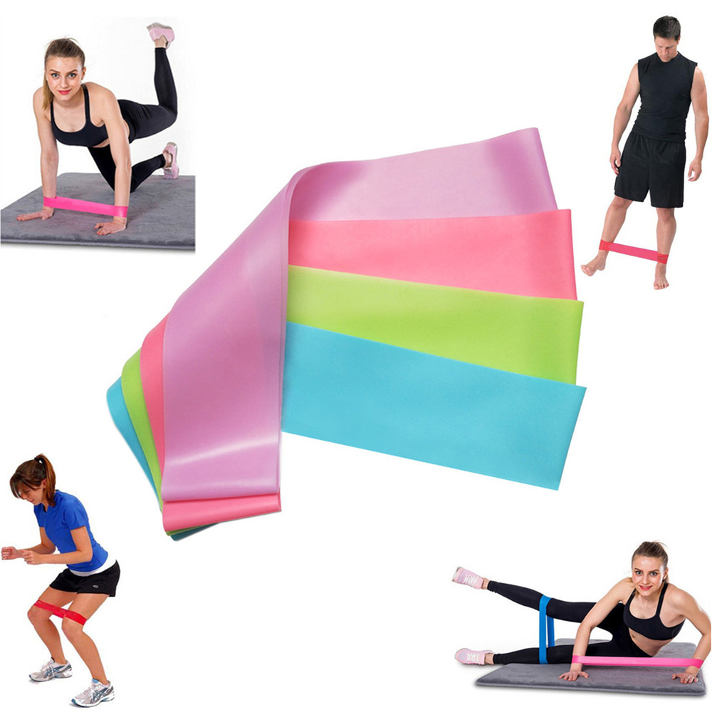 Yoga Exercise Bands Rubber Loop Handle Resistance Training Physical Therapy Workouts Fitness Circle Gym Strength Pilates Sport