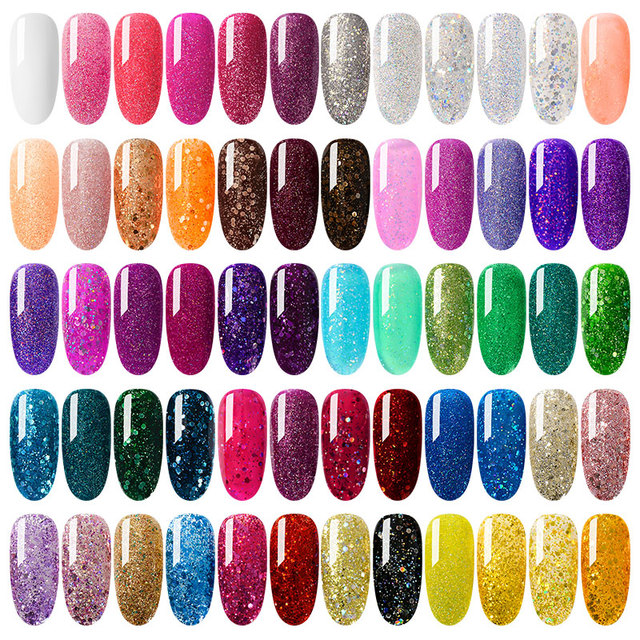 Mtssii For Sale 8ML Nail Polish Holographic Glitter Platinum UV Nail Gel Polish Shine Shimmer Manicure Soak Off Nail Art Varnish 1