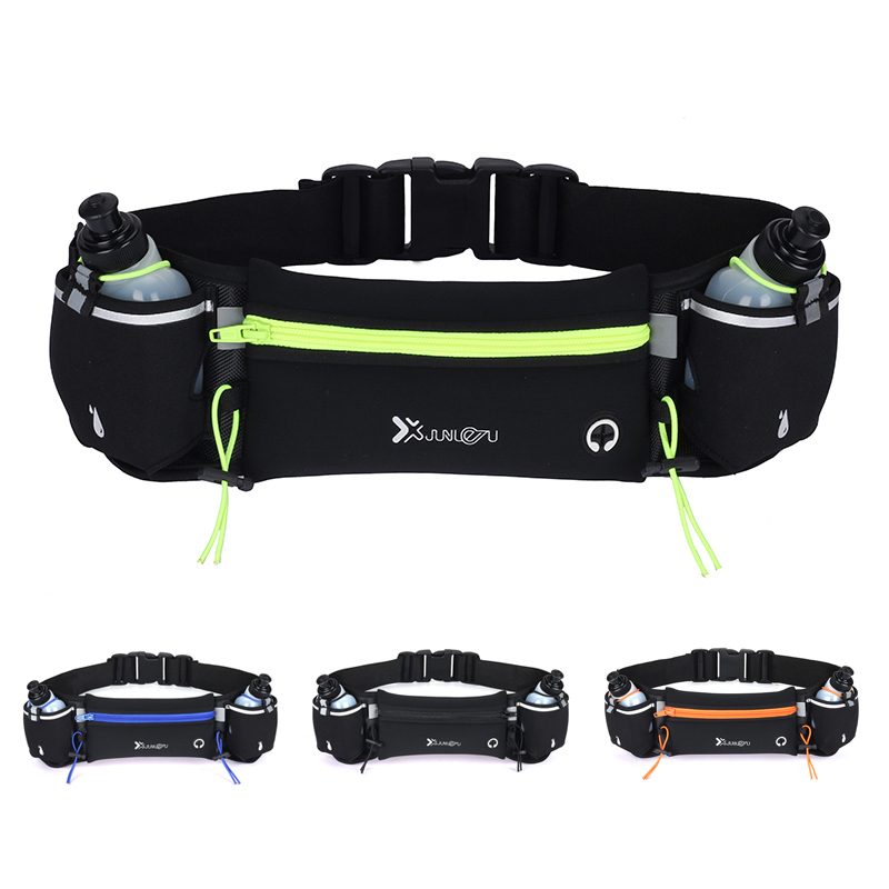 Marathon Dual Pocket Running Belt Trail Running Waist Bag For Phone Sports Fanny Pack Man/Woman Fitness Waist Pack Water Bottle