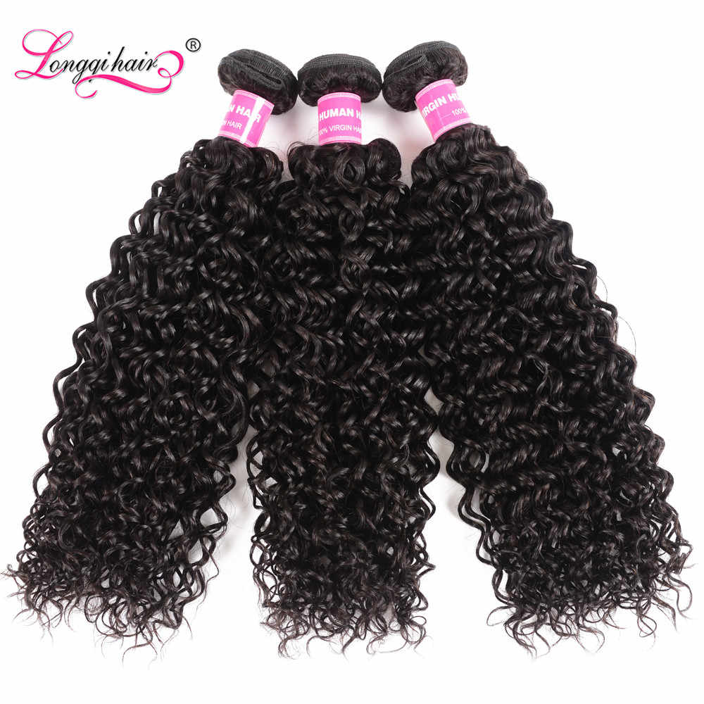 Longqi Hair Cambodian Curly Human Hair 1 3 4 Bundles Jerry Curl Human Hair Bundles Remy Hair Weave Bundles 8 - 26 Inch