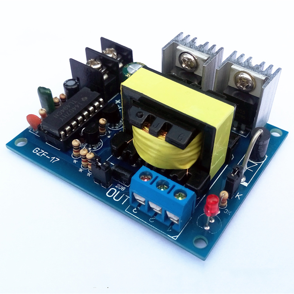 Taidacent 12V/24V To 0-110-220V Boost Circuit Board Micro Inverter DC12V AC220 Inverter 100W DC To High Frequency AC Converter