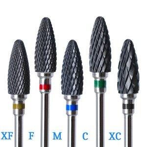 Image 5 - 29 тип ногтей сверла для электрической дрели маникюрный станок аксессуар красочные керамические фрезы Радуга карбид вольфрама
