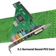 Surround ses PCI kartı 4 kanal 5.1 Surround 3D PC portu ses PCI ses MIDI kartı kartı için Windows için w/Oyun XP/7/8/10 çok O4X0